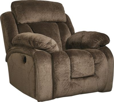 Ashley Stricklin Chocolate Power Rocker Recliner