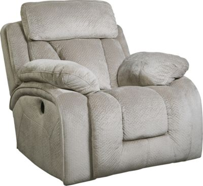 Ashley Stricklin Gray Power Rocker Recliner