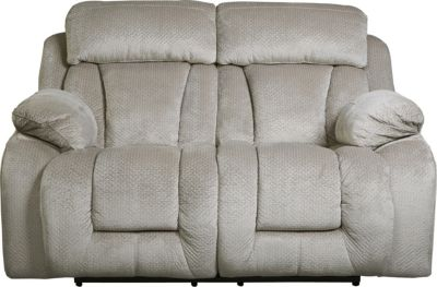Ashley Stricklin Gray Reclining Loveseat