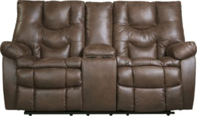 Ashley Burgett Reclining Loveseat with Console
