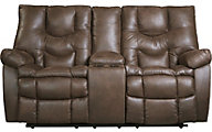 Ashley Burgett Power Reclining Loveseat with Console