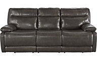 Ashley Palladum Leather Power Reclining Sofa