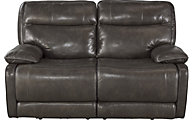 Ashley Palladum Leather Power Reclining Loveseat