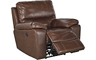 Ashley Penache Leather Rocker Recliner