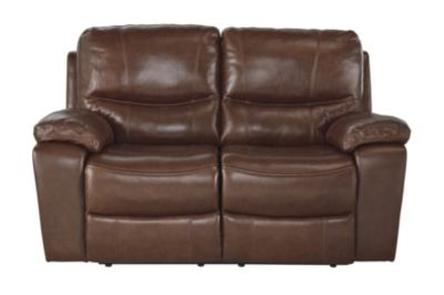 Ashley Penache Leather Power Reclining Loveseat