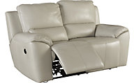 Ashley Valeton Leather Power Reclining Loveseat