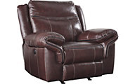 Ashley Zephen Leather Power Rocker Recliner