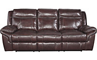 Ashley Zephen Leather Power Reclining Sofa
