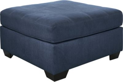 Ashley Pitkin Blue Ottoman