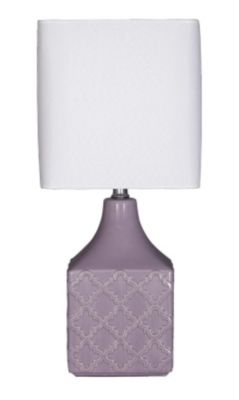 Ashley Simmone Purple Table Lamp