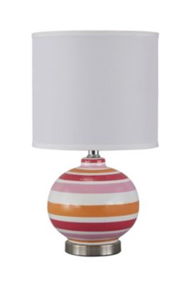 Ashley Sirene Pink/Orange Table Lamp