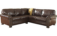 Ashley Banner 2-Piece Leather Sectional