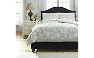 Ashley Florina Natural 3-Piece Queen Duvet Cover Set