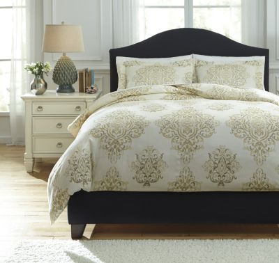 Ashley Fairholm Natural 3-Piece King Duvet Cover Set