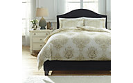 Ashley Fairholm Natural 3-Piece Queen Duvet Cover Set