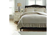 Ashley Clarksdale Natural 3-Piece King Duvet Cover Set