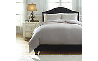 Ashley Bergden Gray 3-Piece King Duvet Cover Set