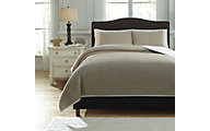Ashley Orson Natural 3-Piece King Coverlet Set