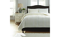 Ashley Solsta Ivory 3-Piece King Coverlet Set