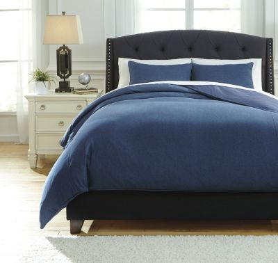 Ashley Sensu Denim 3-Piece Queen Duvet Cover Set