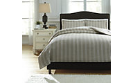 Ashley Navarre White 3-Piece King Duvet Cover Set