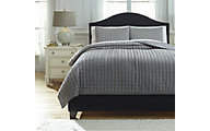 Ashley Teague Gray 3-Piece King Comforter Set