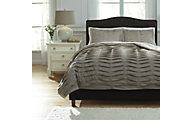 Ashley Voltos Brown 3-Piece Queen Duvet Set