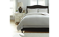 Ashley Farday Natural 3-Piece King Duvet Cover Set