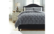 Ashley Rimy Gray 3-Piece King Comforter Set