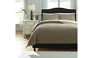Ashley Alecio Sand 3-Piece King Quilt Set