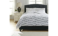 Ashley Amantipoint White 3-Piece Queen Duvet Set