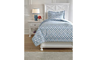 Ashley Loomis Aqua 2-Piece Twin Comforter Set