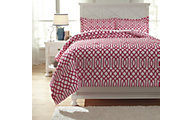 Ashley Loomis Fuchsia 3-Piece Full Comforter Set