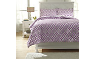 Ashley Loomis Purple 3-Piece Full Comforter Set