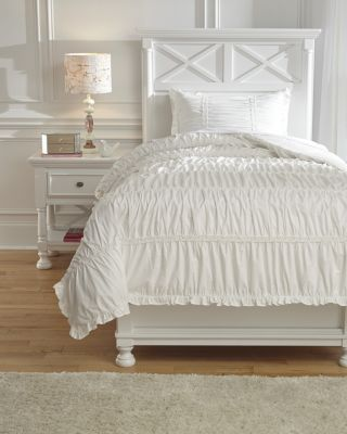 Ashley Brently White 2-Piece Twin Duvet Set