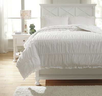 Ashley Brently White 3-Piece Full Duvet Set