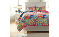 Ashley Belle Chase Patchwork 3-Piece Full Quilt Set