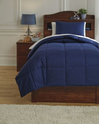 Ashley Plainfield Navy 2-Piece Twin Comforter Set