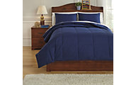 Ashley Plainfield Navy 3-Piece Full Comforter Set