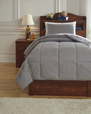 Ashley Plainfield Gray 2-Piece Twin Comforter Set