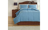 Ashley Plainfield Blue 3-Piece Full Comforter Set