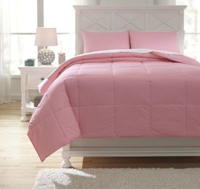 Ashley Plainfield Pink 3-Piece Full Set