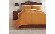 Ashley Plainfield Orange 3-Piece Full Comforter Set