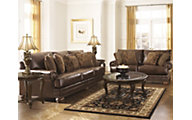 Ashley Chaling Bonded Leather Sofa & Loveseat