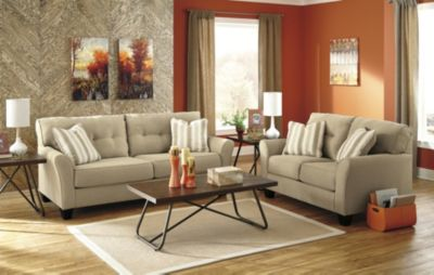 Ashley Laryn Sofa, Loveseat & 3 Piece Table Set