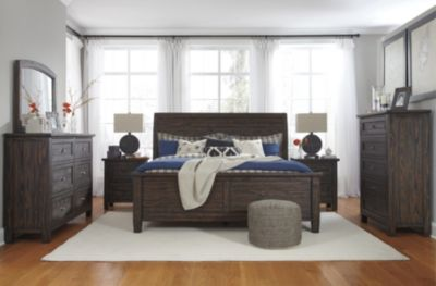 Ashley Trudell 4-Piece King Sleigh Bedroom Set