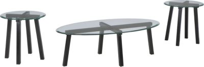 Ashley Iselle Coffee Table & 2 End Tables