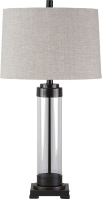 Ashley Talar Bronze and Glass Table Lamp