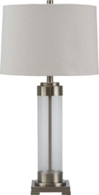 Ashley Talar Silver and Glass Table Lamp