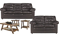 Ashley Knox Sofa, Loveseat & 3 Pack of Tables